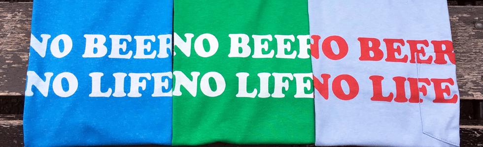 NO BEER NO LIFE Tシャツ コーナー