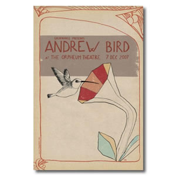 画像1: ANDREW BIRD ポスター / 2007 LIVE POSTER (1)