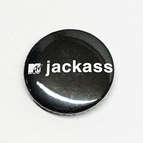 画像1: jackass / バッジ (LOGO) (1)