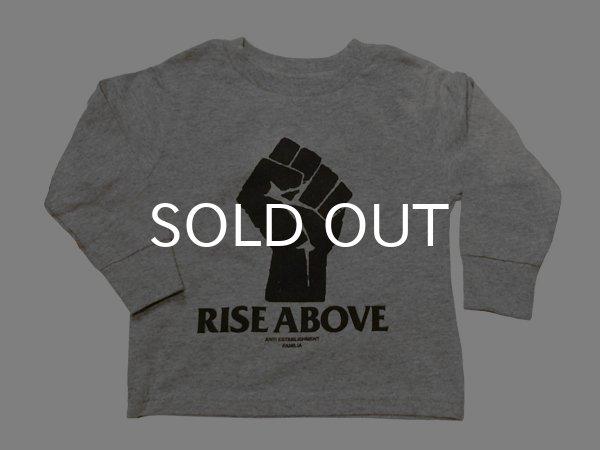 画像1: RISE ABOVE KIDS Tシャツ / 長袖 (GREY) (1)