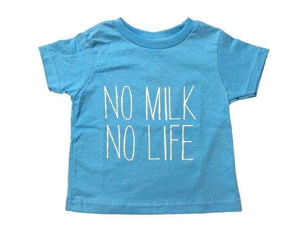 画像1: NO MILK NO LIFE Tシャツ / (AQUA) (1)