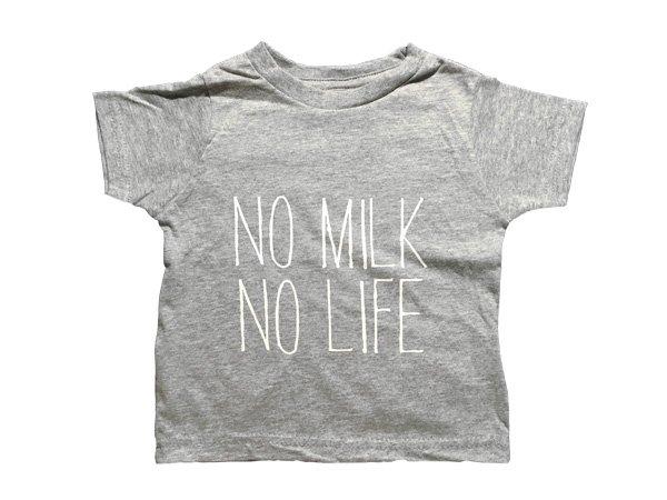 画像1: NO MILK NO LIFE Tシャツ / (GREY) (1)