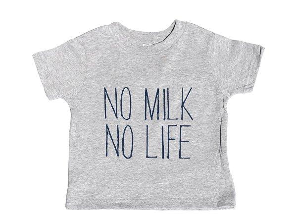 画像1: NO MILK NO LIFE Tシャツ / (GREY/NAVY) (1)