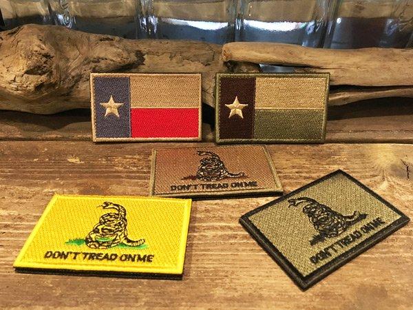 画像1: US ミリタリー・ワッペン / TEXAS, GADSDEN FLAG (1)