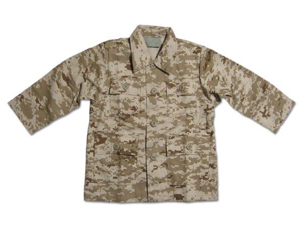 画像1: 【50%OFF】KIDS BDUシャツ / DESERT DIGITAL CAMO (1)