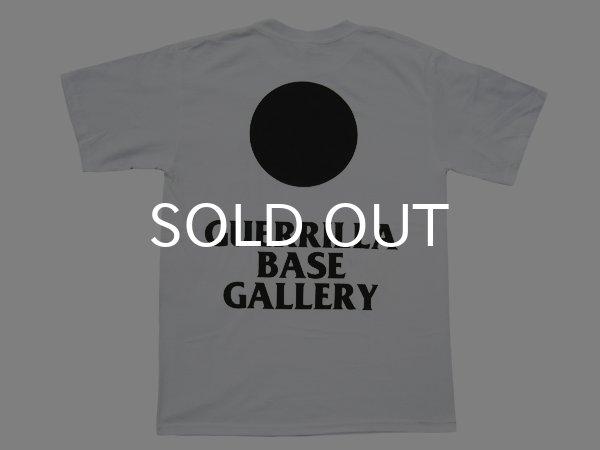画像1: GUERRILLA BASE GALLERY Tシャツ / SUN (WHITE/BLACK) (1)