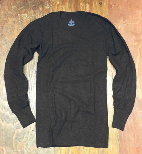画像1: INDERA MILLS サーマル長袖シャツ (BLACK) (1)