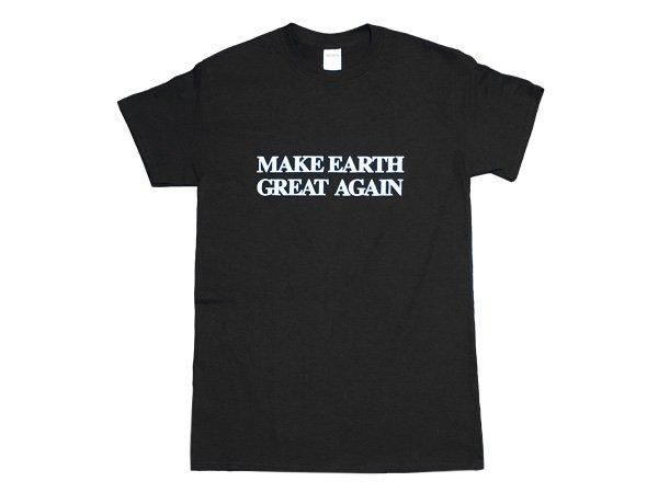 画像1: MAKE EARTH GREAT AGAIN Tシャツ (BLACK) (1)