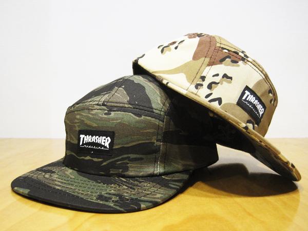 THRASHER   5 PANEL CAP (TIGER CAMO) - バンドTシャツ ロックTシャツ ... 9d9e41eb173